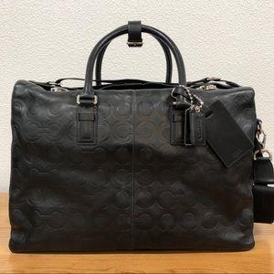 """Coach Leather Signature """"C""""  Travel Bag"""